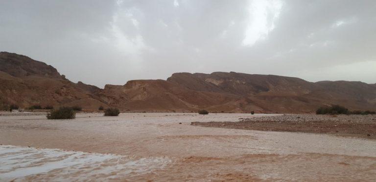 שיטפון במדבר - נחל פראן. צילום זאביק לייסטן