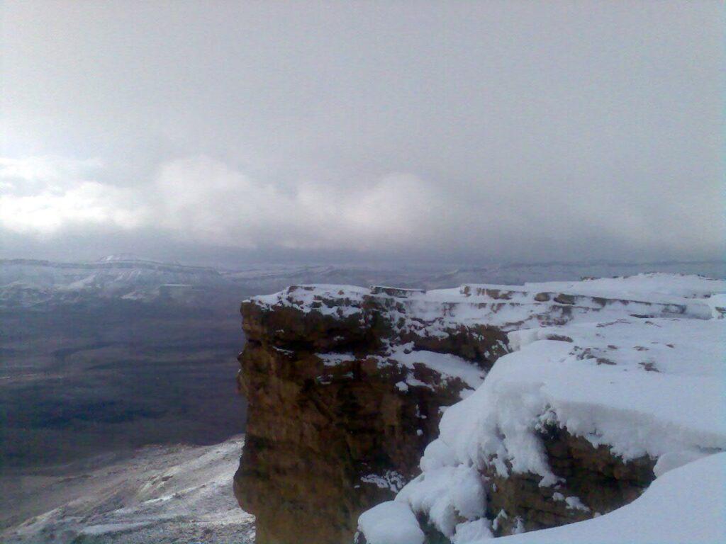 שלג במכתש רמון קרדיט עודד שיקלר